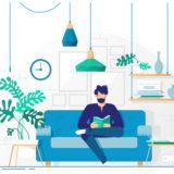 家で読書のイメージ