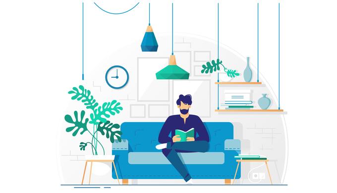 家で勉強のイメージ