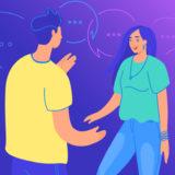 人から口コミを聞くイメージ